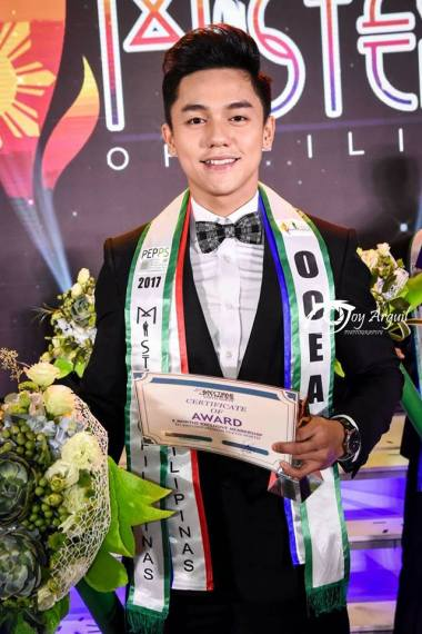 Carlo Pasion is the new Mr. Ocean Philippines 2017 and will compete in 2018